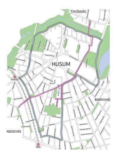 Husumforbindelses ruten