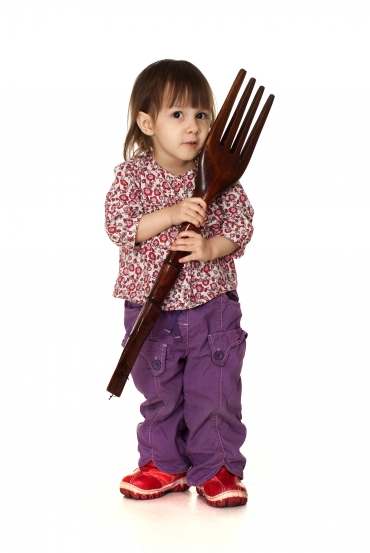 Pige med gaffel 2