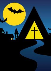 postkort halloweenpub
